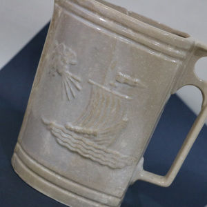 Kitchen - Ship at Sea Sailboat on Ocean Ceramic Pitcher